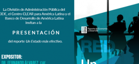 """Presentación del reporte """"Un Estado más efectivo"""""""